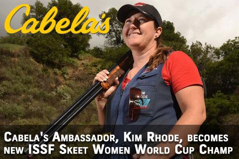 Cabela's Ambassador, Kim Rhode New ISSF Skeet Women Cup Champ