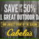 Save up to 50% Fall Great Outdoor days Cabela's