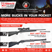 Thompson/Center Arms Launches Mail-in Rebate
