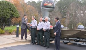 Yamaha Marine Group Donates boats, trailers and Yamaha four-stroke outboard motors to the Georgia Department of Natural Resources.